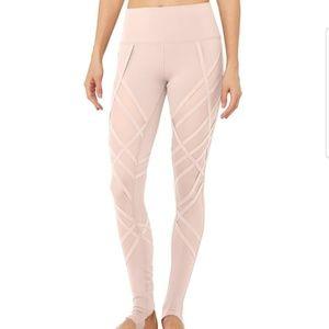 Alo yoga wrapped nectar blush blush cage leggings